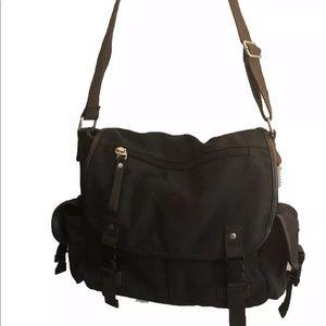 Messenger Bag, Black Business Bag, Shoulder Strap